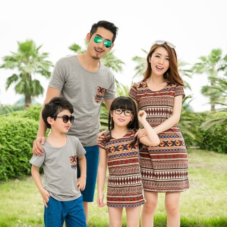 Fashion-Family-Clothing-Mother-and-Daughter-Dresses-Father-and-Son-T-shirts-Mommy-and-Baby-Clothes